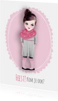Kinderfeestjes - Feest meisje met sjaal