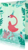 Feestelijke Flamingo en vrienden