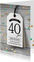 Feestelijke uitnodiging verjaardag