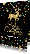 Feestelijke zakelijke kerstkaart  rendier - LO