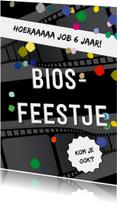 Feestje bioscoop confetti
