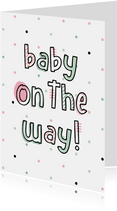 Felicitatie baby on the way hip met confetti
