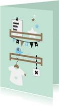 Felicitatie - Babykamer plankjes mint