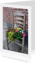 Felicitatie bloemetjes stoel