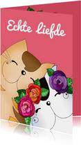Felicitatie bruiloft katten verliefd - SK