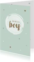 Felicitatie - Cirkel, watercolour boy