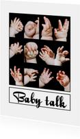 Felicitatie geboorte - Baby talk