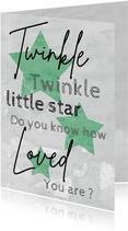 Felicitatie geboorte jongen twinkle