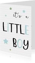 Felicitatie Geboorte little boy