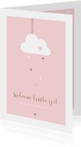 Felicitatie geboorte - Wolkje met hartjes