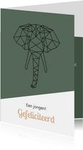 Felicitatie - Geometrische olifant