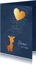 Felicitatie - Giraf met ballon