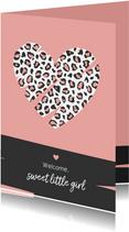Felicitatie - Groot hart met luipaard print