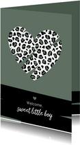 Felicitatie - Hart met luipaard print