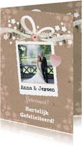 Felicitatie huwelijk foto