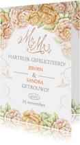felicitatie huwelijk rozen