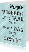 Felicitatie kaart verjaardagskaart originele tekst