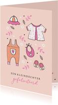 Felicitatie kleindochter babykleertjes 2