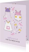 Felicitatie kleindochter babykleertjes