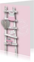 Felicitatie Meisje Ladder