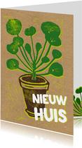 Felicitatie nieuw huis pannenkoekplant
