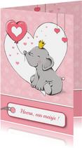Felicitatie olifantje - IH
