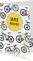Felicitatie prestatie fietsen