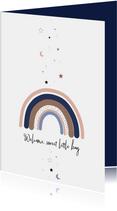 Felicitatie - Regenboog met sterren en maan