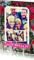 Felicitatie selfie rozen RB