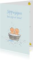 Felicitatie Tweeling Babybadje