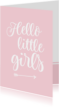 Felicitatie - tweeling hello little girls