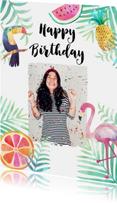 Felicitatie verjaardag tropisch - BK