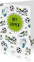 Felicitatie voetbal prestatie