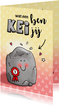 Felicitatie voor een nummer 1 Kei