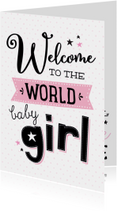 Felicitatiekaart Baby girl-99