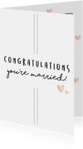 Felicitatiekaarten - Felicitatiekaart - Congratulations you're married!