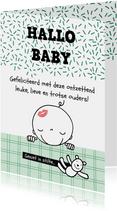 Felicitatiekaarten - Felicitatiekaart geboorte hallo baby