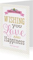 Felicitatiekaart Happiness