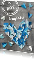 Felicitatiekaart  hart zoon