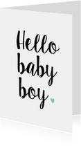Felicitatiekaart Hello Baby Boy