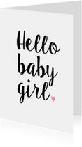 Felicitatiekaart Hello Baby Girl