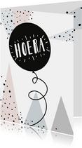 Felicitatiekaart Hoera hipperdestip