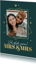 Felicitatiekaart huwelijk gay mrs and mrs silhouet grafisch