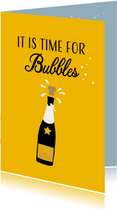Felicitatiekaart, It is time for Bubbles