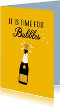 Felicitatiekaart, It is time for Bubbles