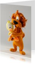 Felicitatiekaart Loeki de Leeuw en Guusje