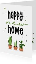 Felicitatiekaart met planten