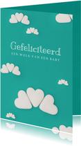 Felicitatiekaart voor een wolk van een baby