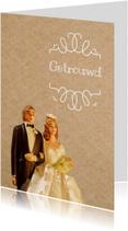 Felicitatiekaart voor het gelukkige bruidspaar