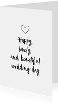 Felicitatiekaart - Wedding day!